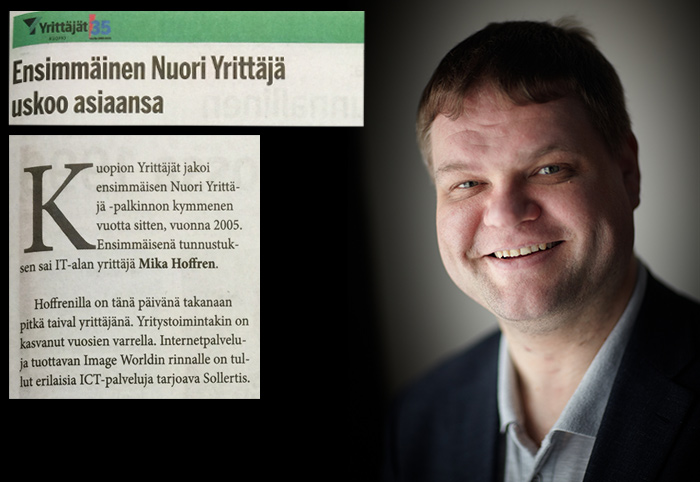 Kuvassa Mika Hoffren