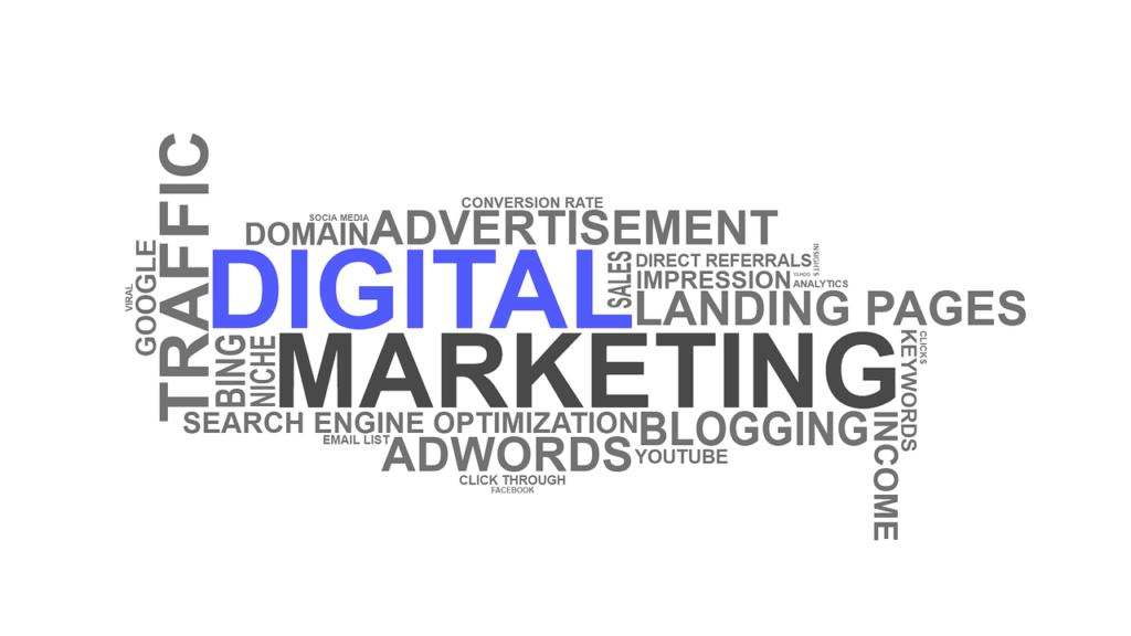 Digitaalinen markkinointi kattaa useita eri osa-alueita