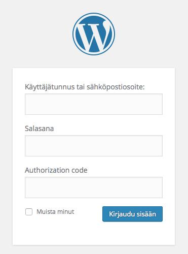 Stealth Login on lisännyt Authorization Code-kentän WordPressin kirjautumisikkunaan