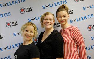 Kuvassa Tiina Weisell, Joanna Niininen ja Outi Niskanen